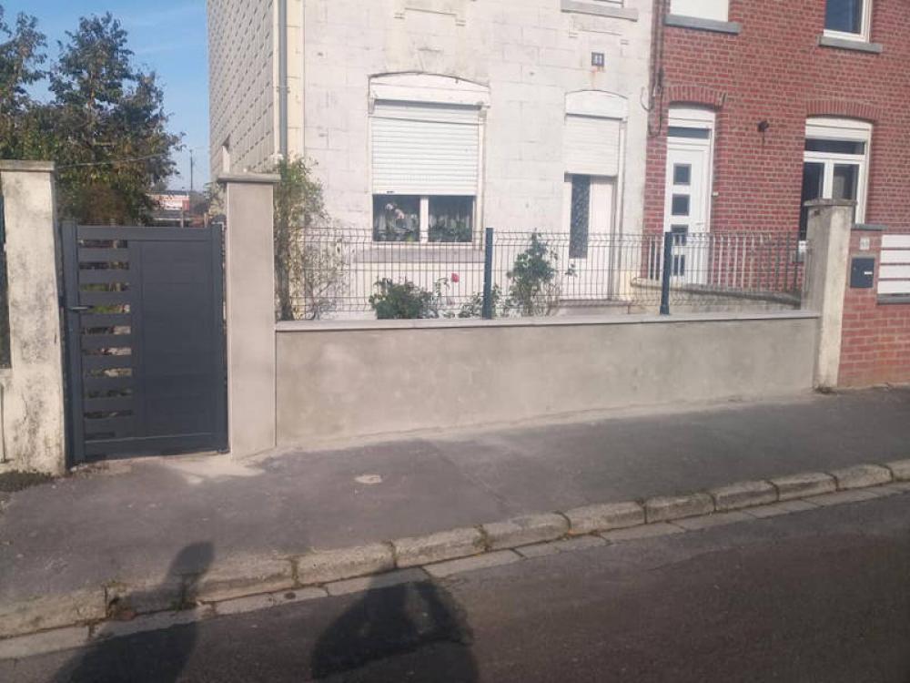 Muret clôture Maubeuge